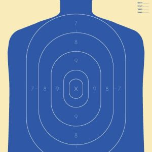 Silhouette Targets, 25 Yard Blue (B-34), Pack of 10