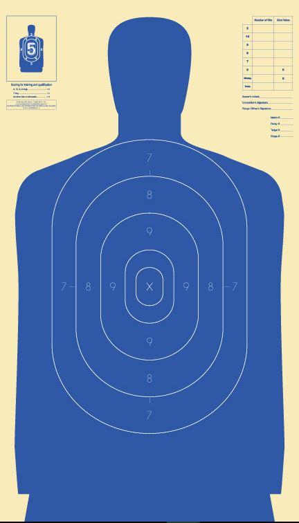 Silhouette Targets, 25 Yard Blue (B-34), Pack of 10