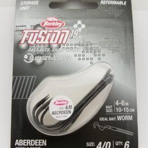 Berkley Fusion 19, Aberdeen Hook, Size 4/0, Per 6