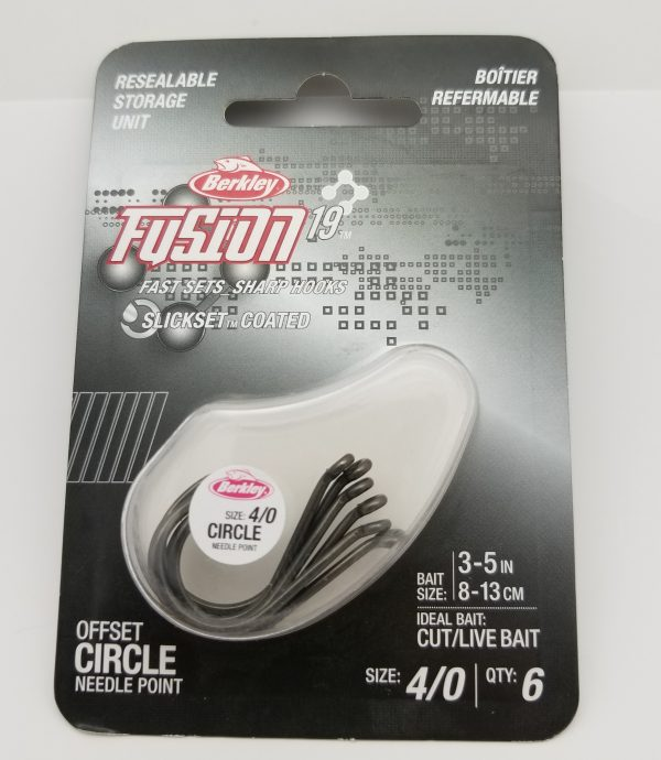 Berkley Fusion 19, Offset Circle Hook, Size 4/0, Per 6
