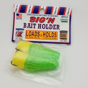 Magic Bait Co, Big'N Bait Holder Mesh Hook, Treble, Green