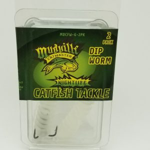 Mudville Catmaster Dip Worm - Glow – 2 Pack