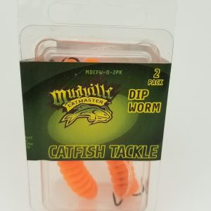 Mudville Catmaster Dip Worm - Orange – 2 Pack