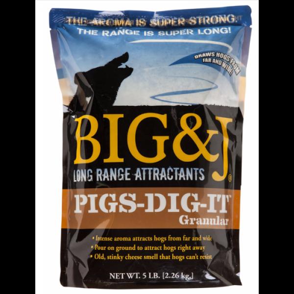 Big & J Pigs Dig It, Granular, 5 lb Bag