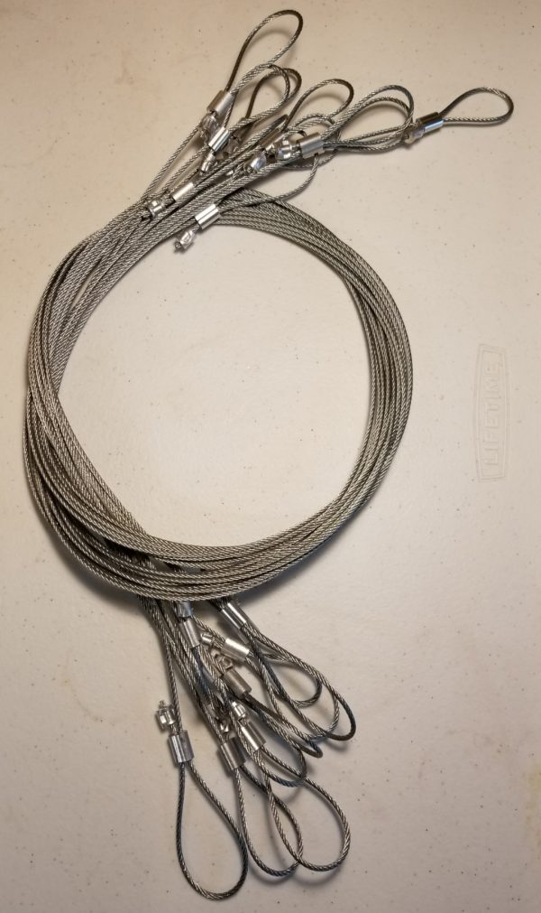 Snare Extension Cable, 6', 3/32', Adjustable Ends